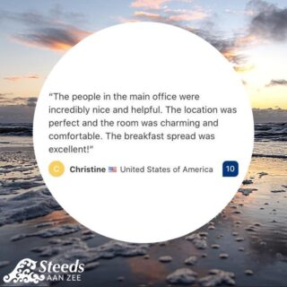 A really lovely review from Christine! We love to hear about your experiences at our hotel and apartments. See you soon? 👉 www.steedsaanzee.nl . . . #hotelsteedsaanzee #katwijkaanzee  #hotel #review #happycostumer #travel  #vaction #beach #coast